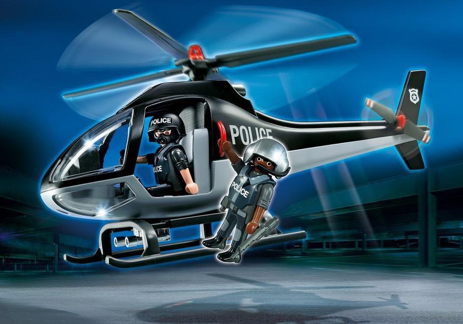 """Hélicoptère D'unité Spéciale Playmobil - City Action """"Police"""" (5675) front image (front cover)"""