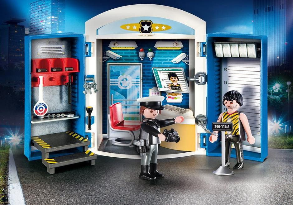 "Valisette Du Commissariat De Police Playmobil - City Action ""Police"" (9111) front image (front cover)"