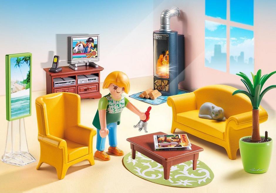 Salon Avec Poêle A Bois Playmobil - Vie Domestique (5308) front image (front cover)
