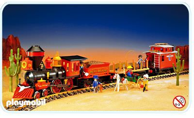 Tren oeste Playmobil - Western (4034) front image (front cover)