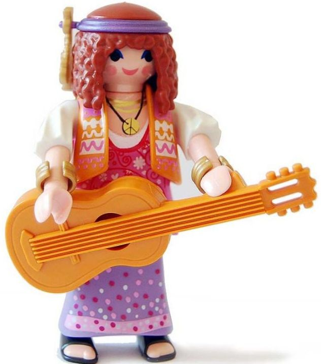9147. Series 11 (10. Hippie) Playmobil - Figures (9147) front image (front cover)
