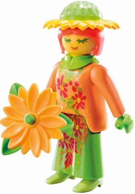 9147. Series 11 (12. Mujer Flor) Playmobil - Figures (9147) front image (front cover)