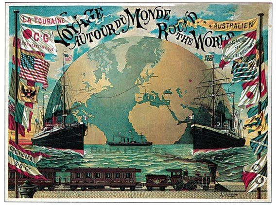 Voyage Round the World Puzzle - Hasbro (Travel) front image (front cover)