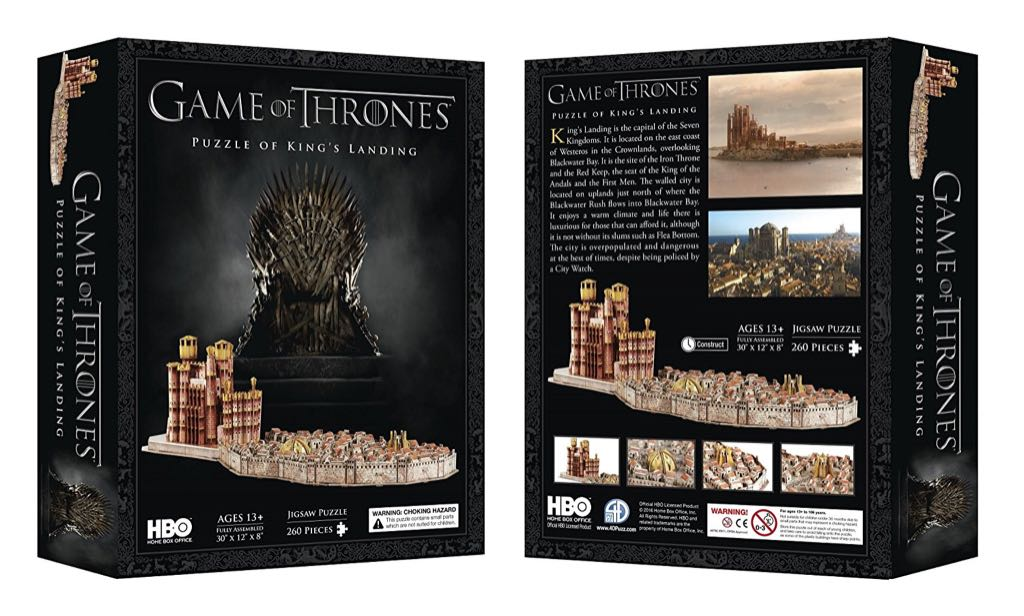 Game of Thrones: Puzzle of King's Landing Puzzle - 4D Cityscape Inc front image (front cover)