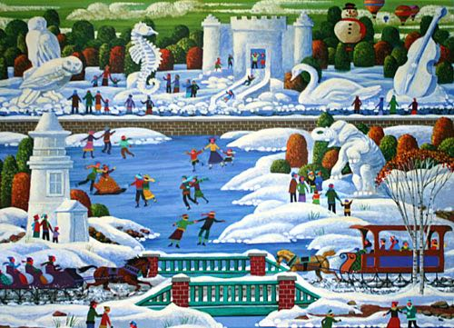 Wisconsin Snow Sculpture Puzzle - Mega front image (front cover)