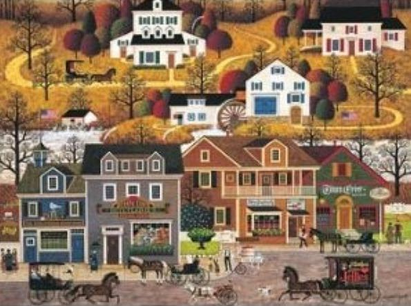 Hawkriver Hollow Puzzle - Buffalo Games front image (front cover)