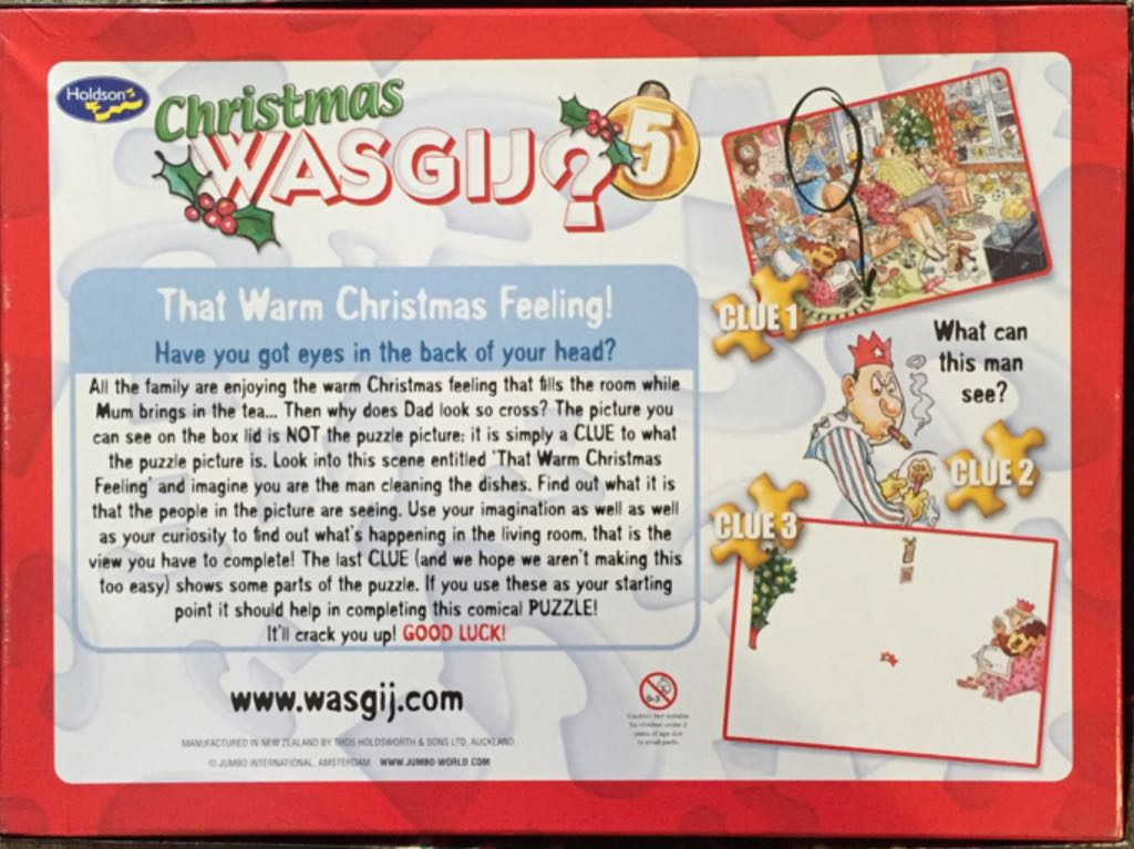 Christmas Wasgij 5 Puzzle - Holdson back image (back cover, second image)