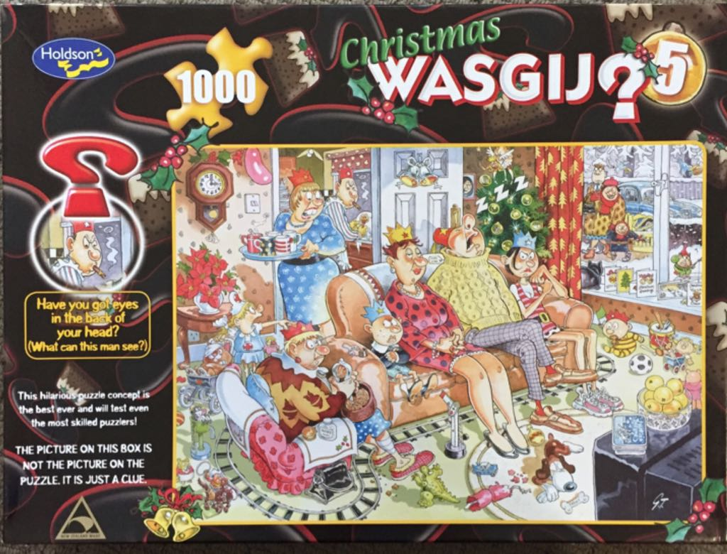 Christmas Wasgij 5 Puzzle - Holdson front image (front cover)