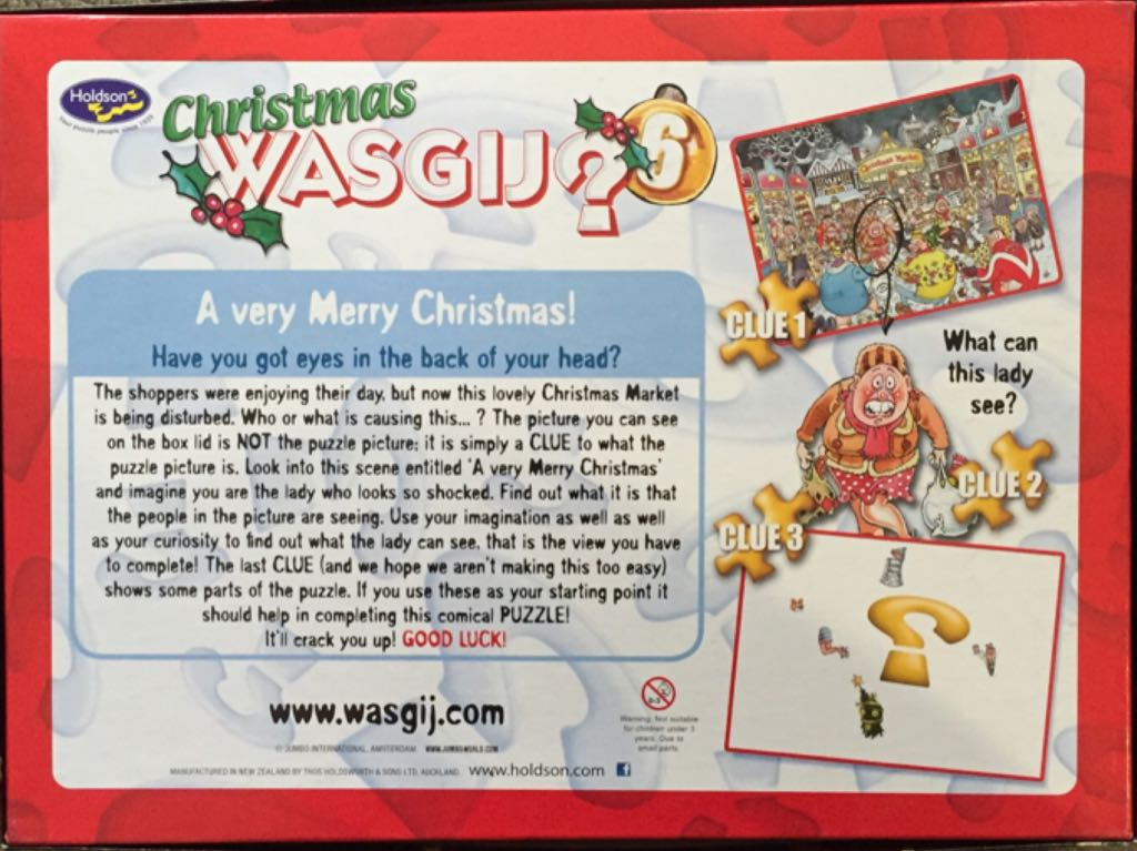 Christmas Wasgij 6 Puzzle - Holdson back image (back cover, second image)