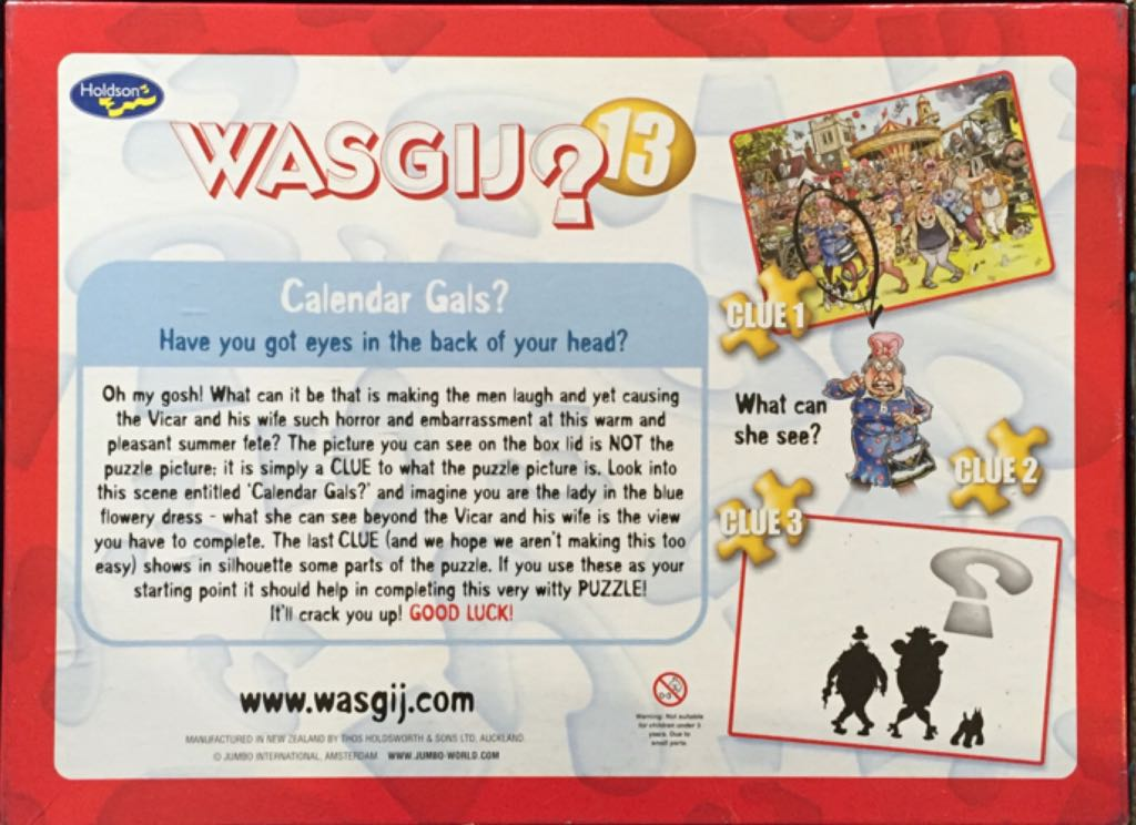Wasgij 13 Puzzle - Holdson back image (back cover, second image)