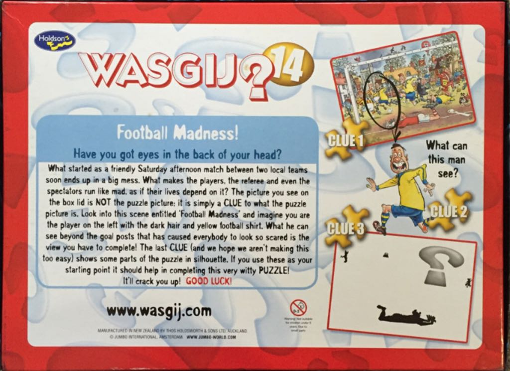 Wasgij 14 Puzzle - Jumbo (Wasgij) back image (back cover, second image)