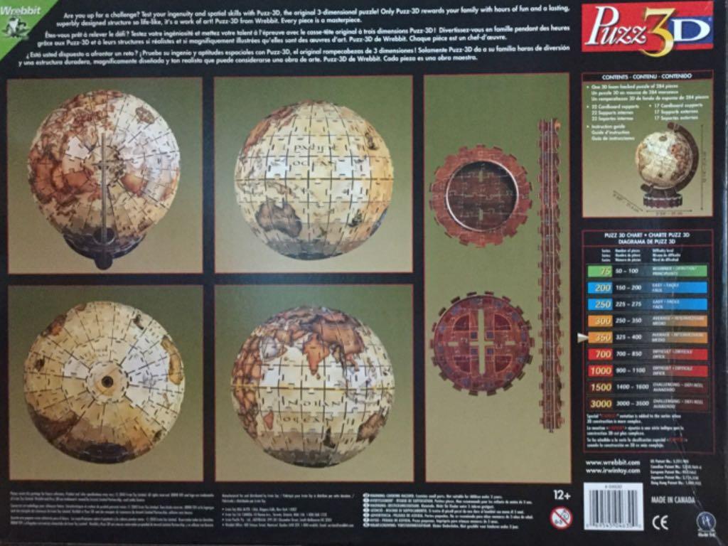 aedf7253dff Globe terrestre ancien Puzzle - Wrebbit (Objet) back image (back cover