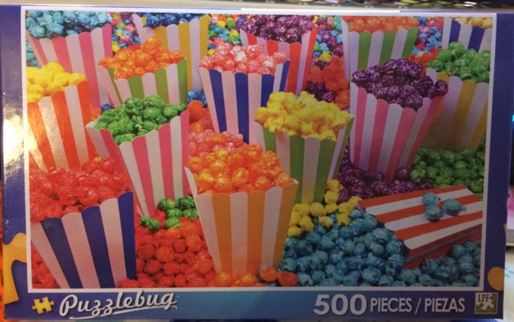 Colorful Popcorn! Puzzle - Puzzlebug front image (front cover)