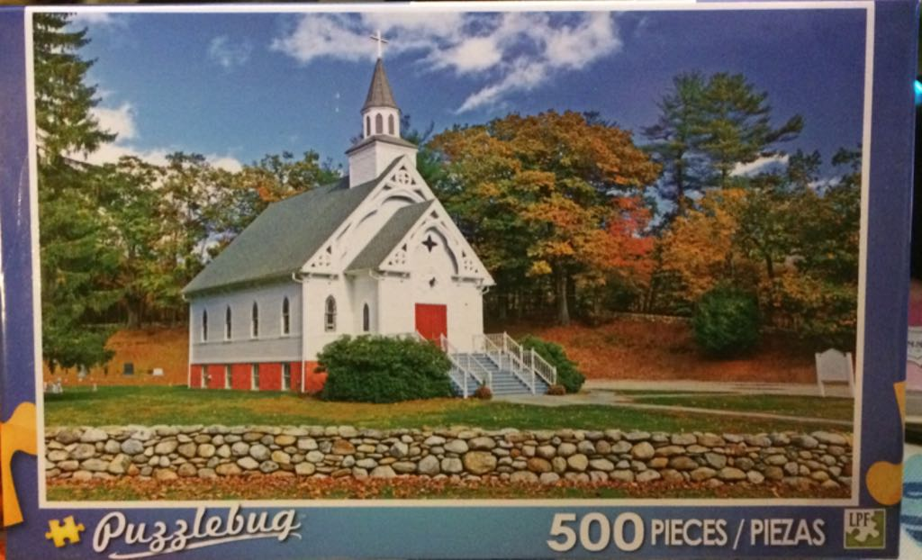 New England Church Puzzle - Puzzlebug front image (front cover)
