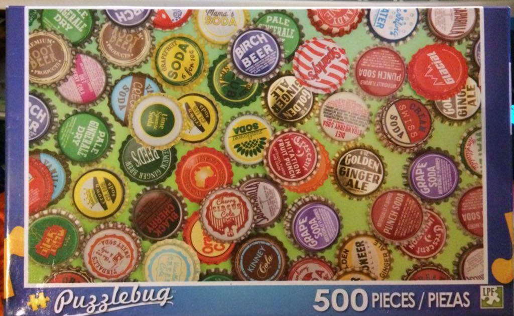 Vintage Bottle Caps Puzzle - Puzzlebug front image (front cover)