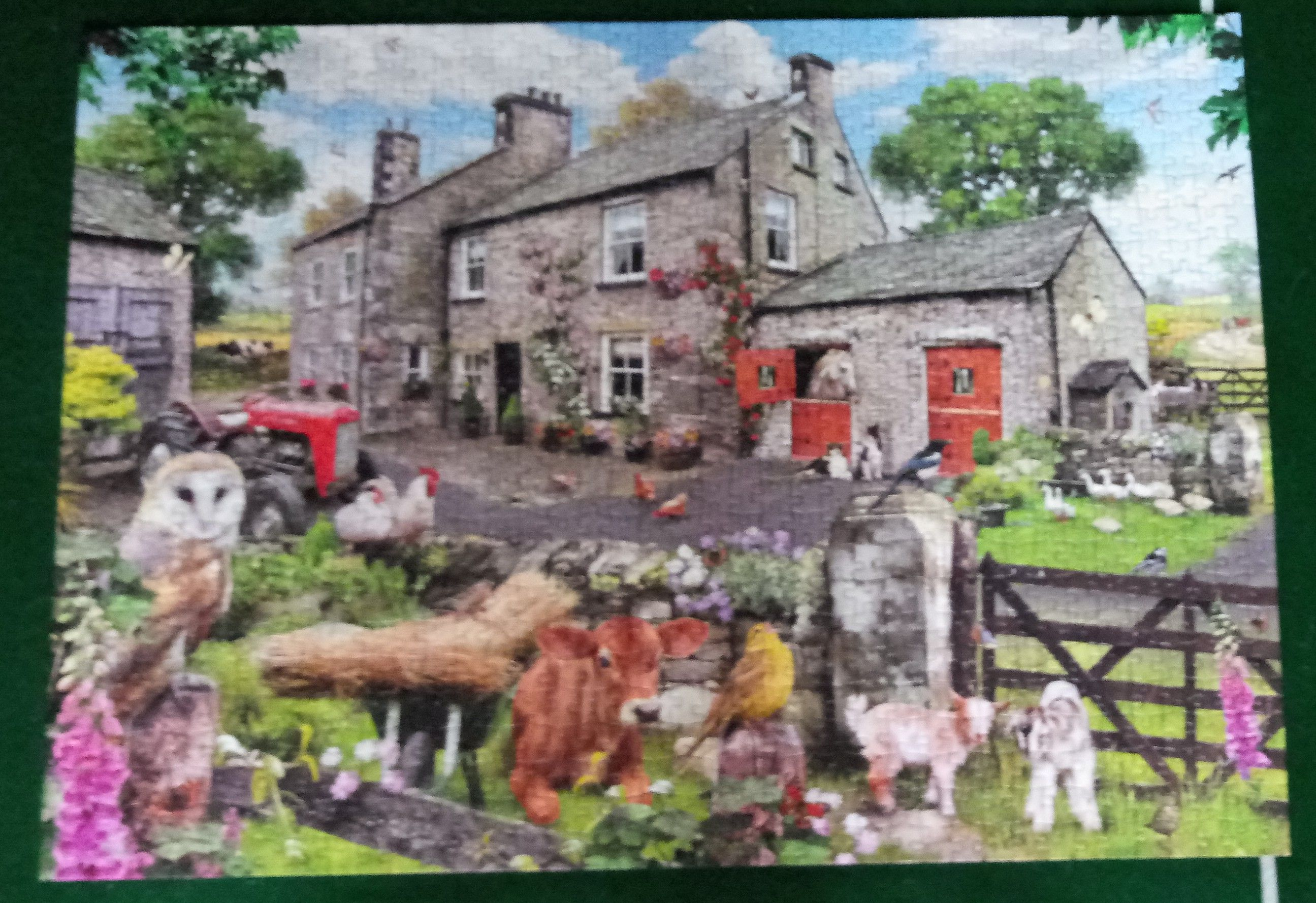 Farmyard Friends Puzzle - Gibsons front image (front cover)