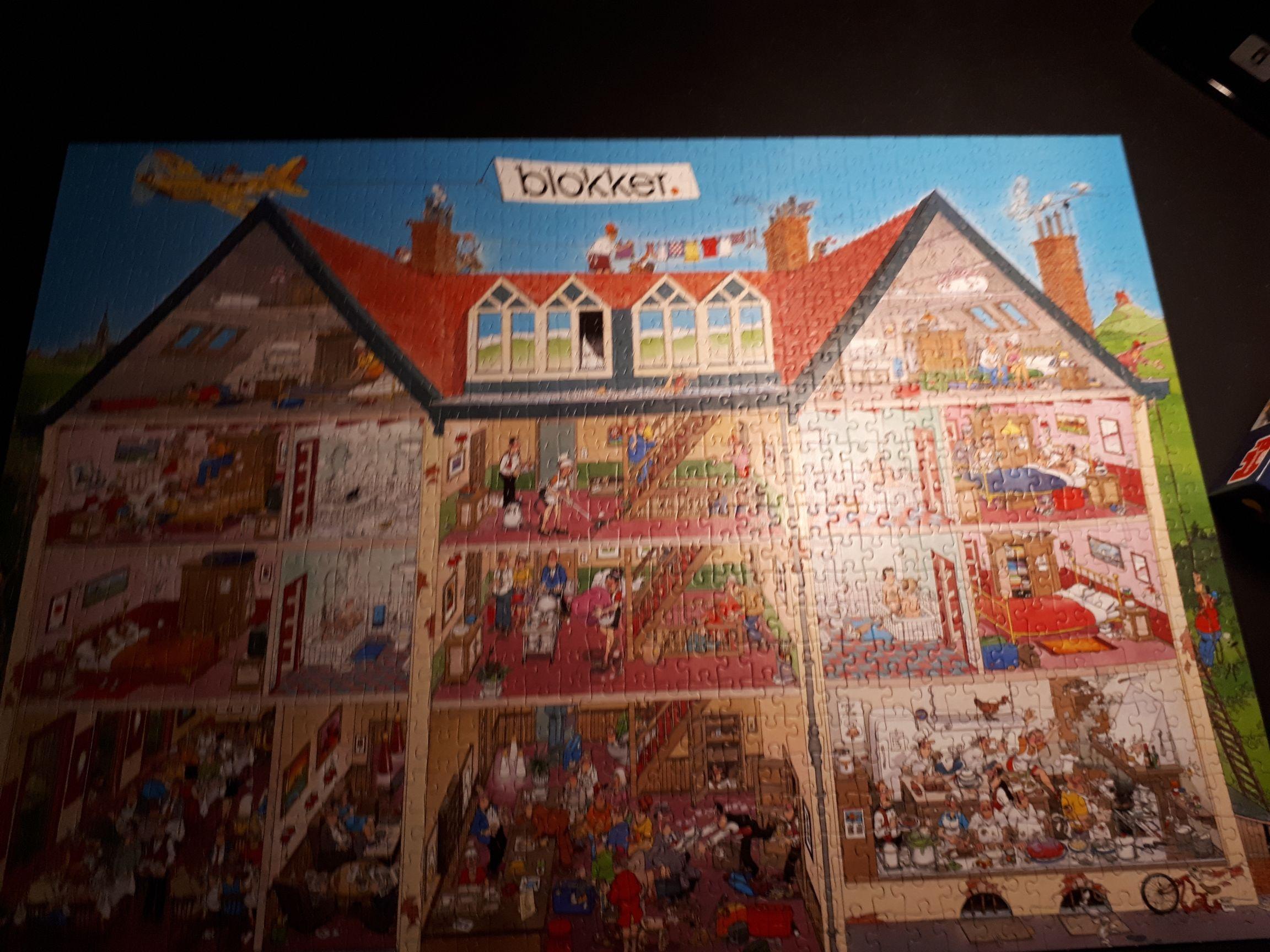 Het Hotel Blokker Special 81636 Puzzle - Jumbo (-) back image (back cover, second image)