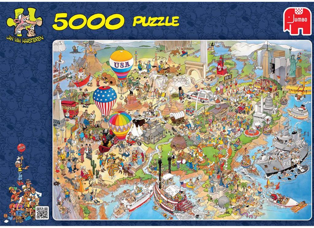 Jan Van Haasteren U.S.A. Puzzle - Jan Van Haasteren front image (front cover)