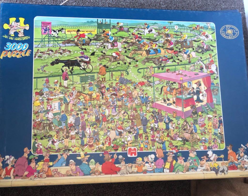 Jan Van Haasteren Ascot Paardenrace (3000) Puzzle - Jan Van Haasteren front image (front cover)