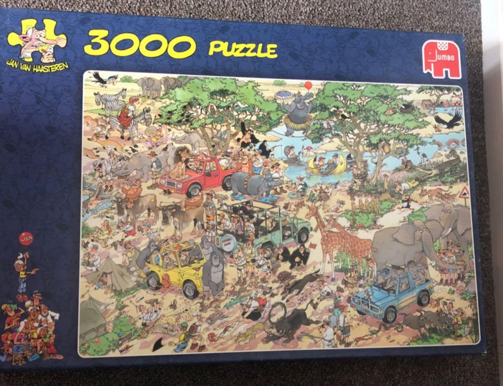 Jan Van Haasteren Safari Puzzle - Jan Van Haasteren front image (front cover)