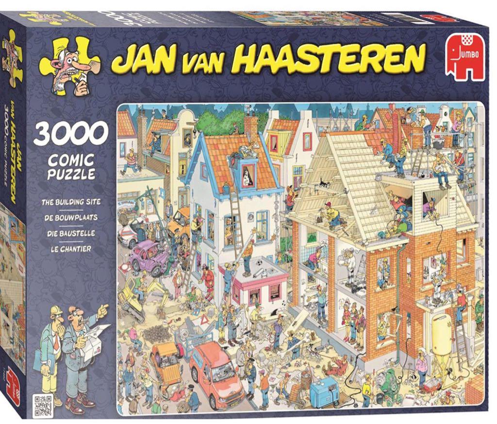 Jan Van Haasteren De Bouwplaats Puzzle - Jan Van Haasteren front image (front cover)