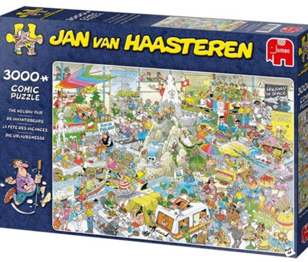 Jan Van Haasteren De Vakantiebeurs Puzzle - Jan Van Haasteren front image (front cover)