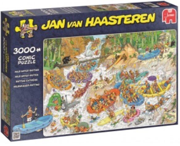 Jan Van Haasteren Wild Water Rafting Puzzle - Jan Van Haasteren front image (front cover)