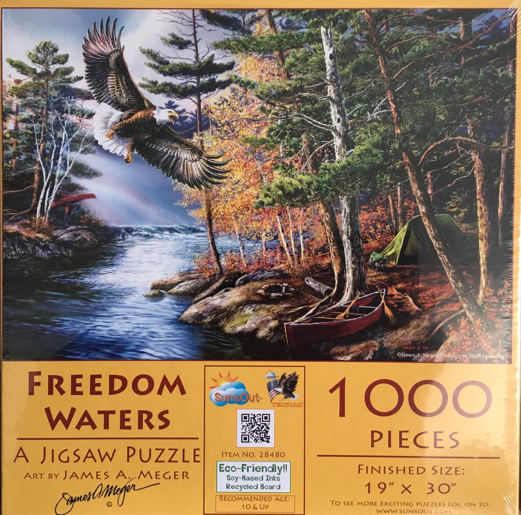 Freedom Waters 28480 Puzzle - SunsOut (Landschappen/-huizen) front image (front cover)