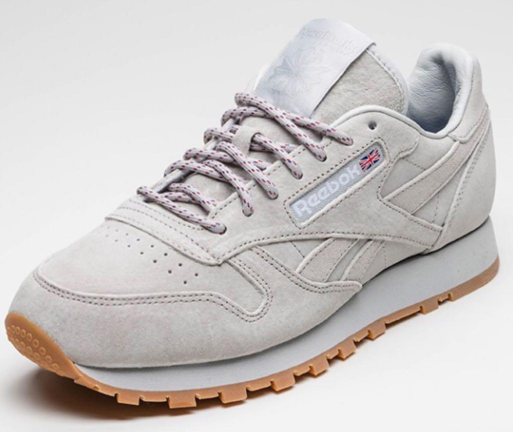 Kendrick Lamar X Reebok Classic Leather Shoe - Reebok (Steel White-Gum) 5ee10c02a