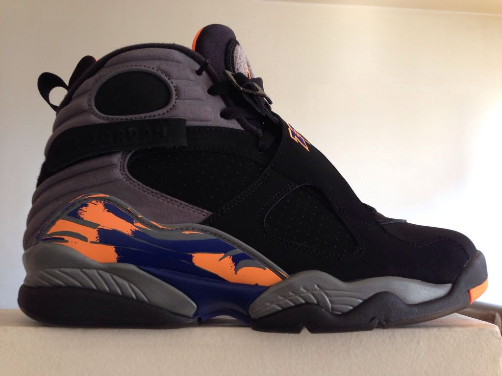 factory price cb72e e4951 Air Jordan 8 Retro Shoe - Jordan (Black   Bright Citrus-Cool Grey-