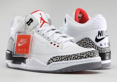 fcc9c40e301 Air Jordan 3 Retro  88 Shoe - Jordan (White Fire Red-Cement Grey ...