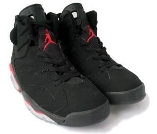 Air Jordan VI Shoe - Nike (Black/varsity Red) front image (front cover)