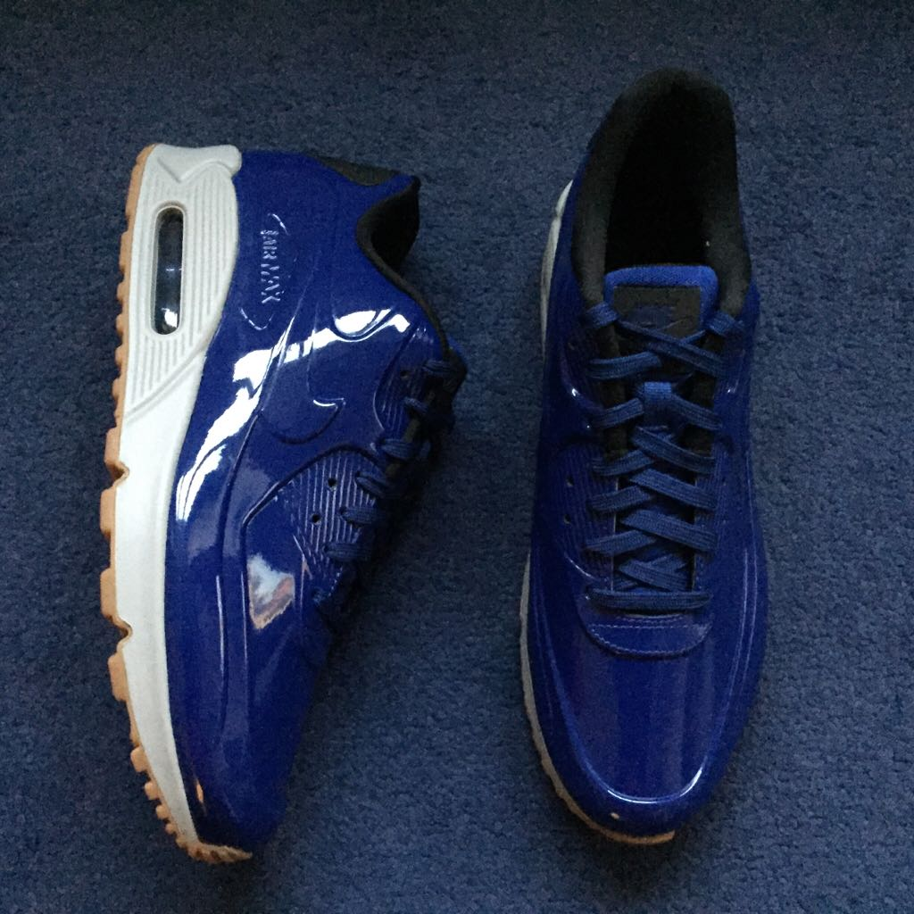 best sneakers 69713 cc7fe ... Running Shoes Nike Air Max 90 VT QS Shoe - Nike (Deep Royal Blue Wolf  Grey ...