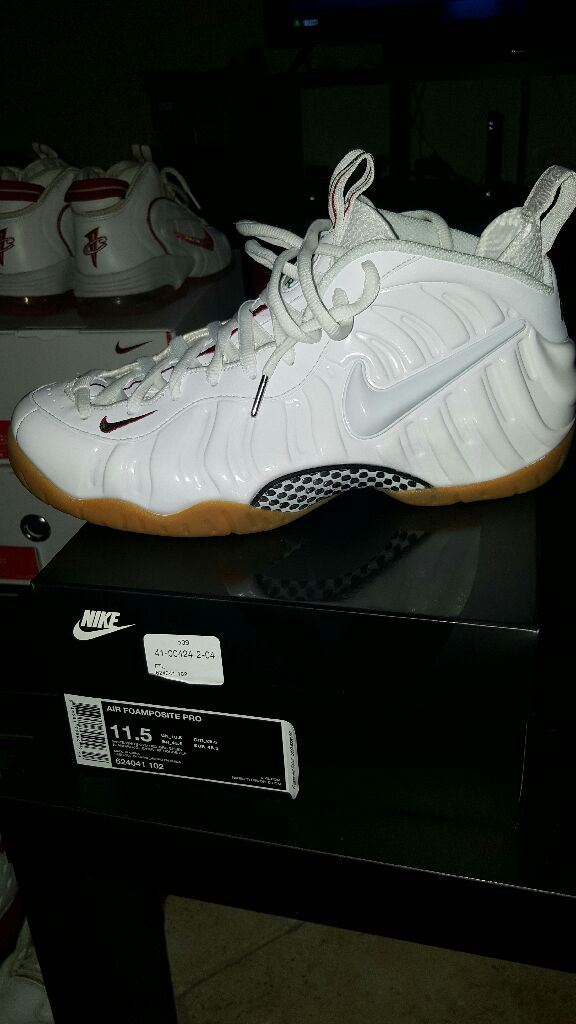 """c95bad8a41c Nike Air Foamposite Pro """"Gucci-Home"""" Shoe - Nike (WHITE WHT-GYM RED ..."""