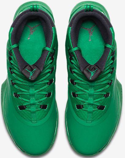 32619fed6ee1 Jordan Ultra Fly 2 TB Shoe - Jordan (Pine Green   Metallic Silver) back