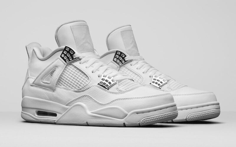 Air Jordan 4 Retro 'Pure Money' Shoe - Air Jordan 4 (White/