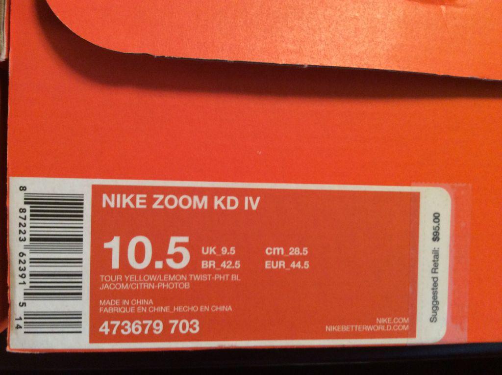 c29735ad0818 KD 4 Scoring Titles Shoe - Nike (Tour Yellow Lemon Twist-Pht Bl ...