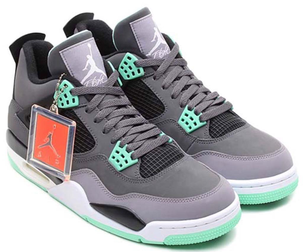 new arrival 14bc7 fad89 Air Jordan 4 Retro Green Glow Sz 14.0 308497-033 Shoe - Nike (Dark