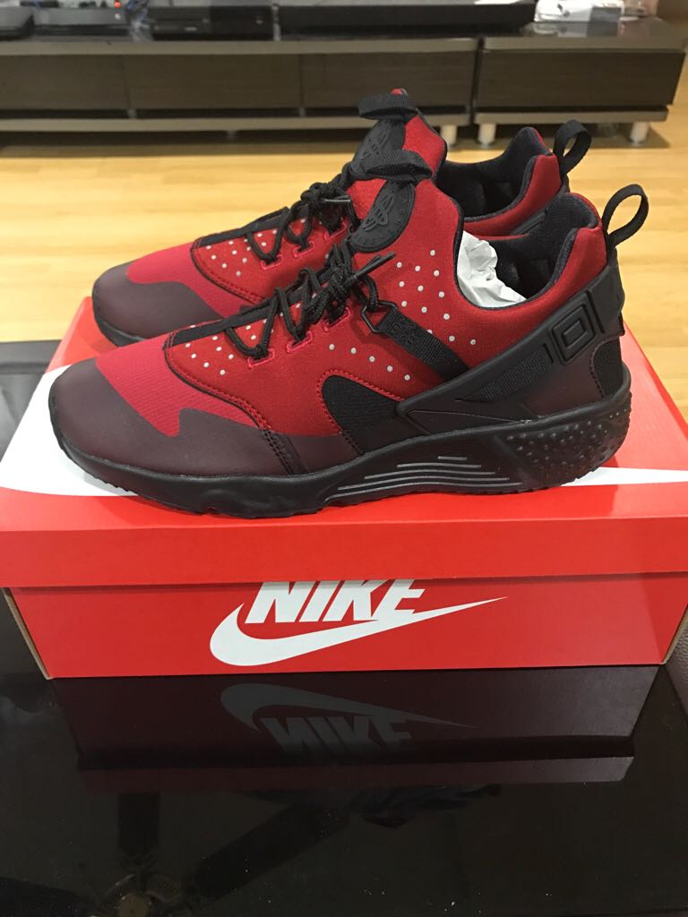 super popular df15e 0d94e ... coupon code nike air huarache utility shoe nike gym red black rouge gym  noir 66fd4 3d1f0