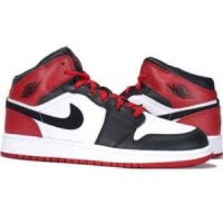 Air Jordan 1 Retro Shoe - Air Jordan (White/Black-Varsity Red) front image (front cover)