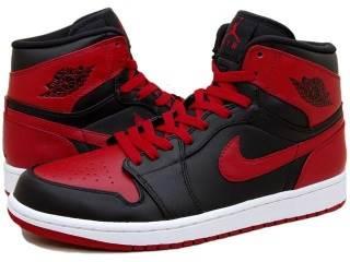 Air Jordan 1 Retro Shoe - Air Jordan (Black/varsity Red) front image (front cover)