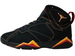 2059a813df0 Air Jordan 7 Retro Shoe - Nike Air (Black/citrus-varsity Red) - from ...