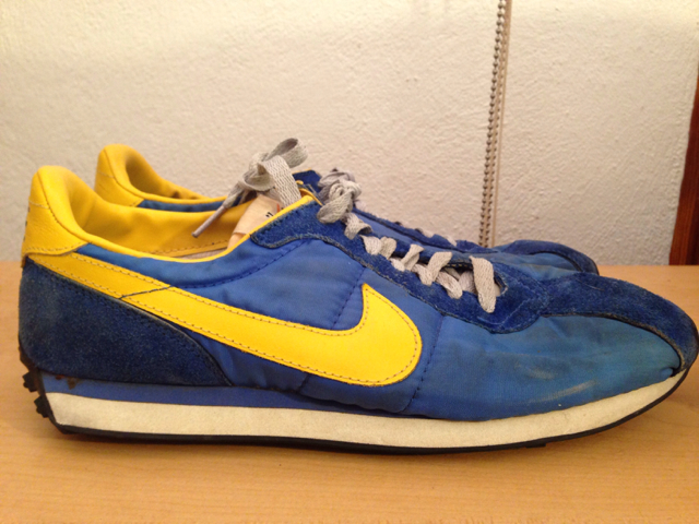 ade8e98666cb0 Nike Waffle Trainer Shoe - Nike (Blue/Yellow) front image (front cover