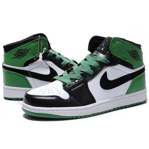 Air Jordan 1 Retro Shoe - Air Jordan (Black/Green) front image (front cover)