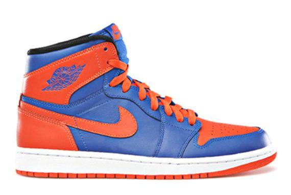 Air Jordan 1 Retro Shoe - Air Jordan (Blue/orange) front image (front cover)