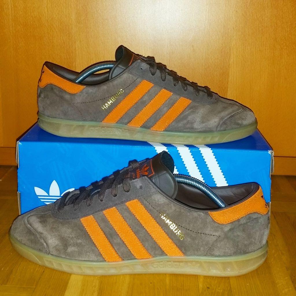 Adidas Hamburg Shoe - Adidas (Brown / Orange) - from Sort It Apps