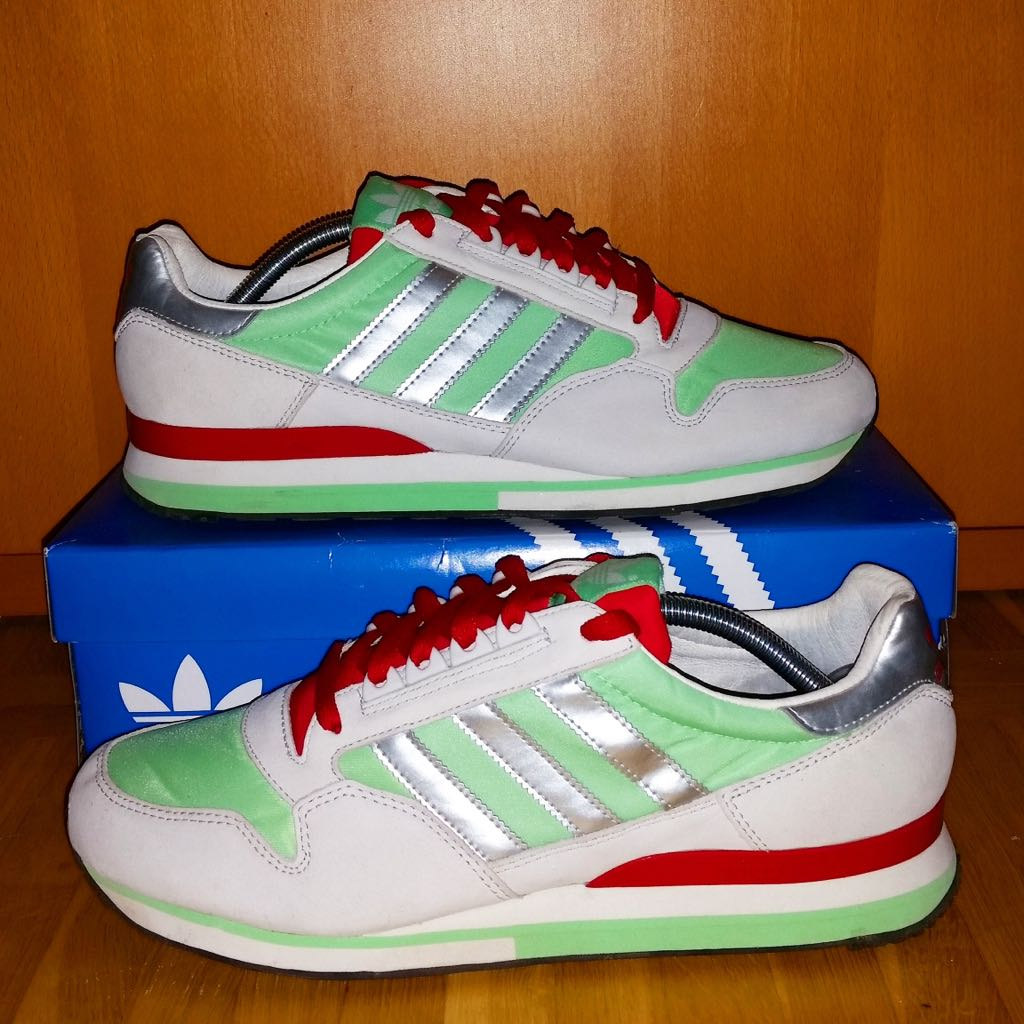 0c15d18e124b5 Adidas ZX 500 Shoe - Adidas (Green   White   Red   Silver) - from ...
