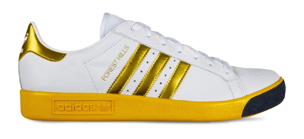 Adidas Forest Hills zapato Adidas (blanco / amarillo / oro)