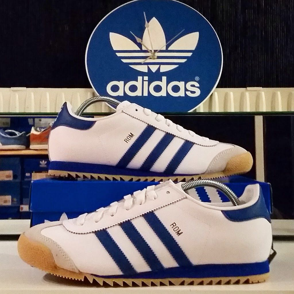 Adidas Rom Shoe - Adidas (White / Blue) - from Sort It Apps