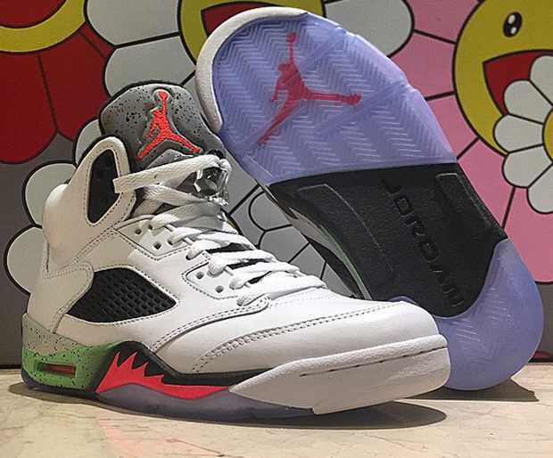 on sale e17e8 6a99e ... green black lo38qbj shoes 3b6cc 24c02  low cost nike air jordan retro 5  shoe air jordan white infrared 23 light 853b4 9c209